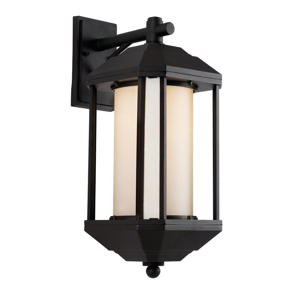 Downtown Trolley Black 1 Light Wall Lantern B-106383