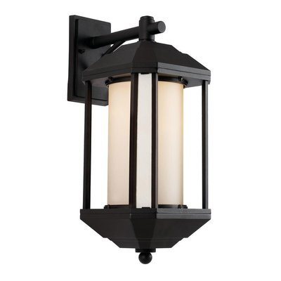 Downtown Trolley Black 1 Light Wall Lantern