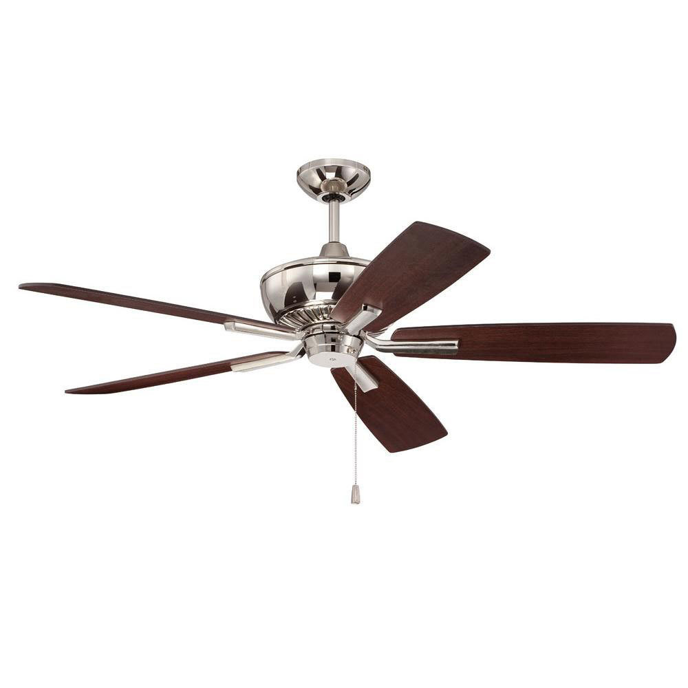 "Dunbar Polished Nickel 52"" Ceiling Fan T-246123"
