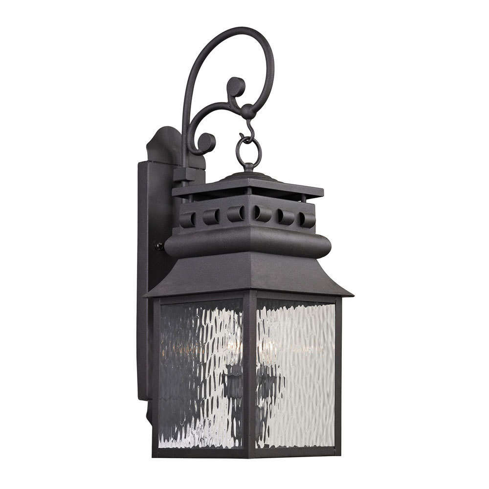 Forged Lancaster Charcoal 2Lt Exterior Sconce B-310020
