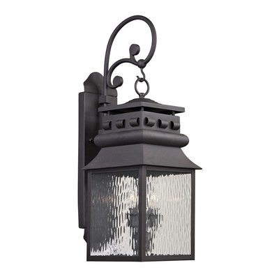 Forged Lancaster Charcoal 2Lt Exterior Sconce