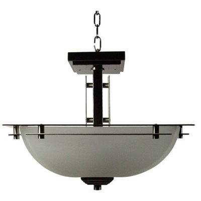 Half Dome Satin Nickel 2Lt Semi Flush