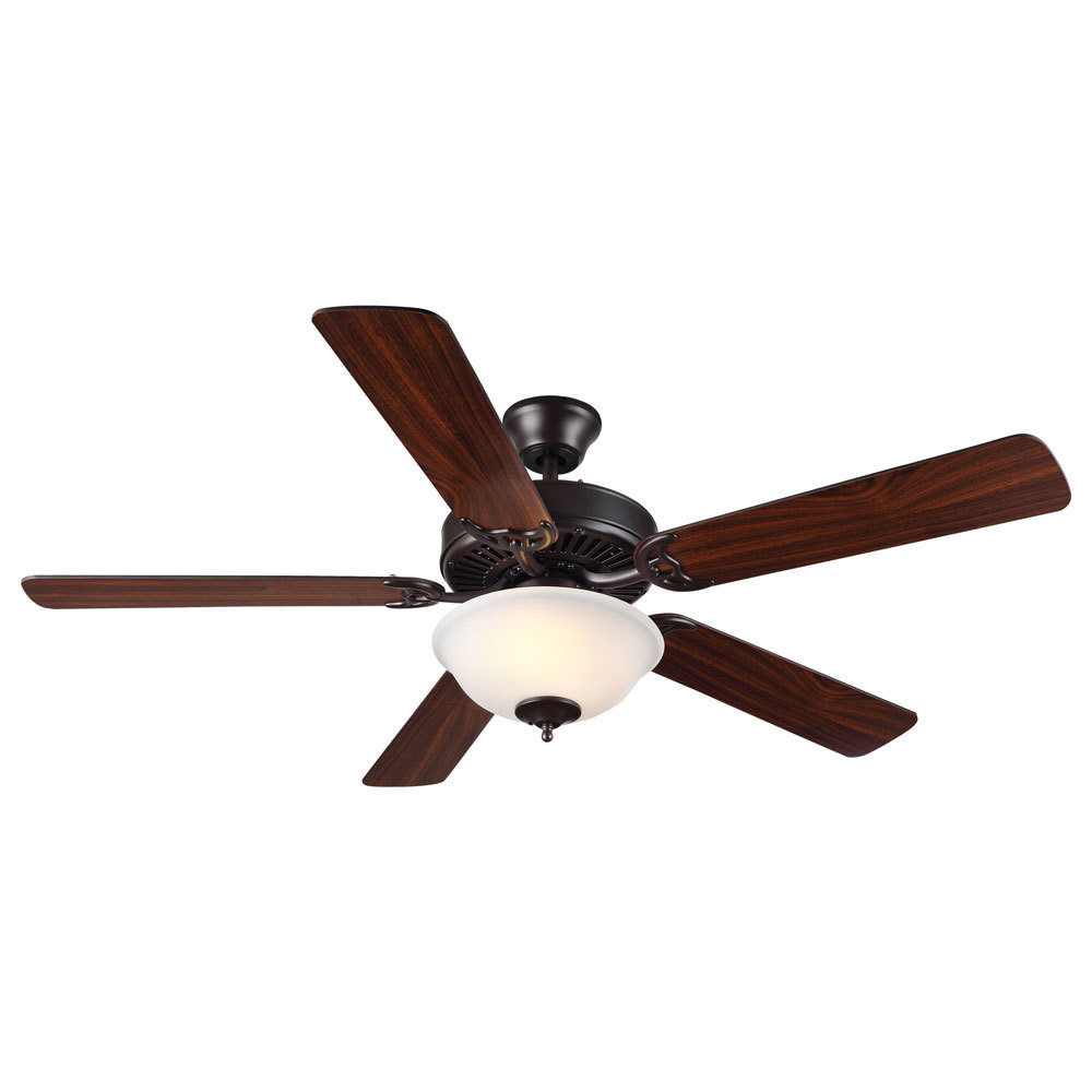 "Homebuilder II Bronze 52"" Ceiling Fan with Light Kit C-115067"
