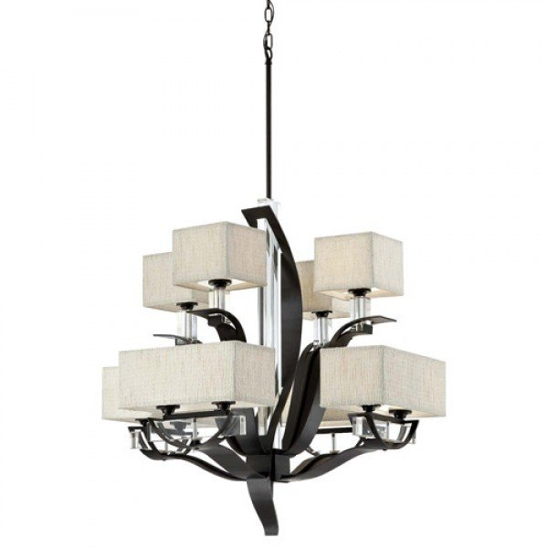 Kalmia Iron Framed 12Lt Chandelier B-700662