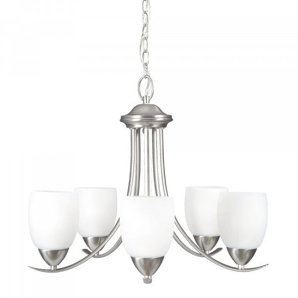 Kestrel Brushed Nickel 5Lt Chandelier B-700775