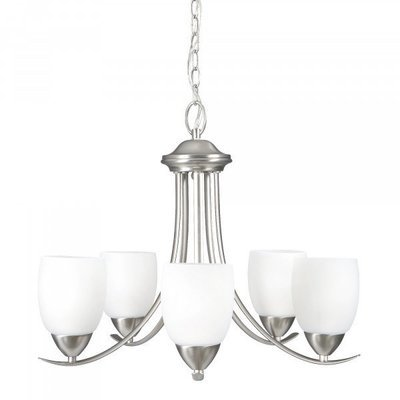 Kestrel Brushed Nickel 5Lt Chandelier
