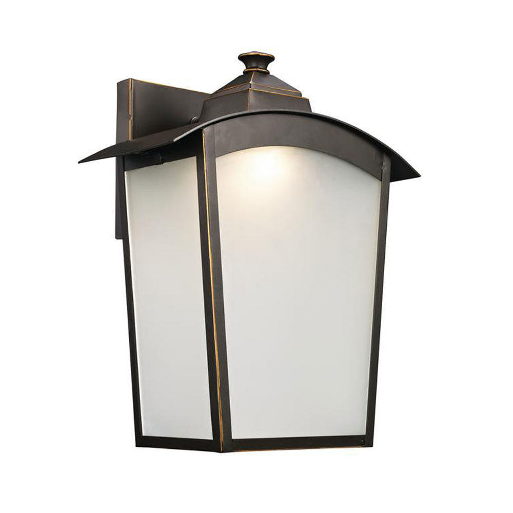 Oil Rubbed Bronze Led Exterior Wall Lantern C-106821
