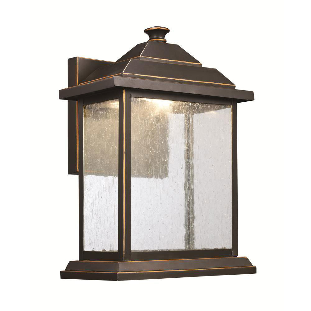 Oil Rubbed Bronze Led Exterior Wall Lantern C-106823
