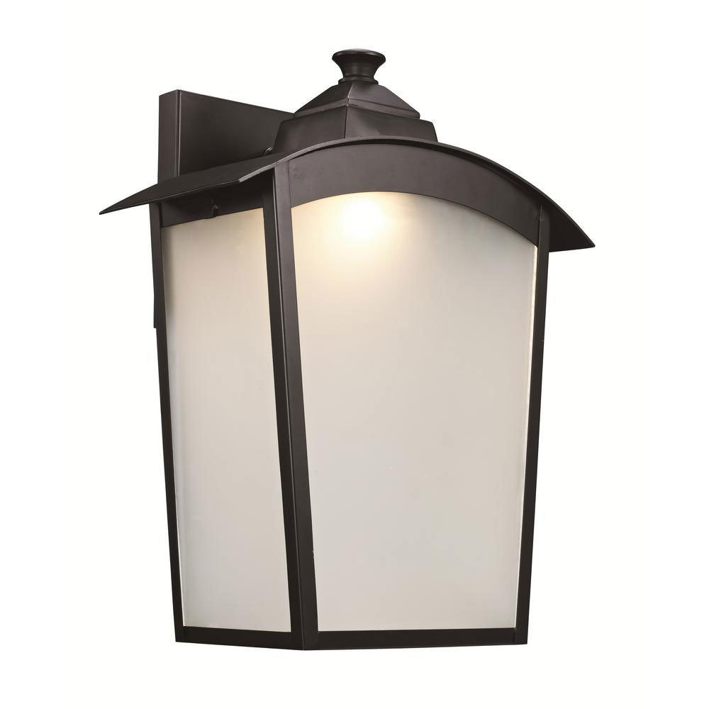 Oil Rubbed Bronze Led Exterior Wall Lantern T-106822
