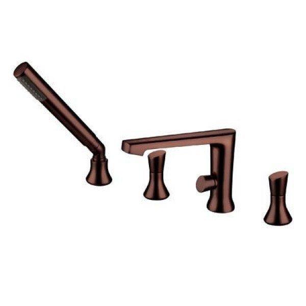 Oil-Rub Bronze Tub Filler W/ Hand Shower B-700735