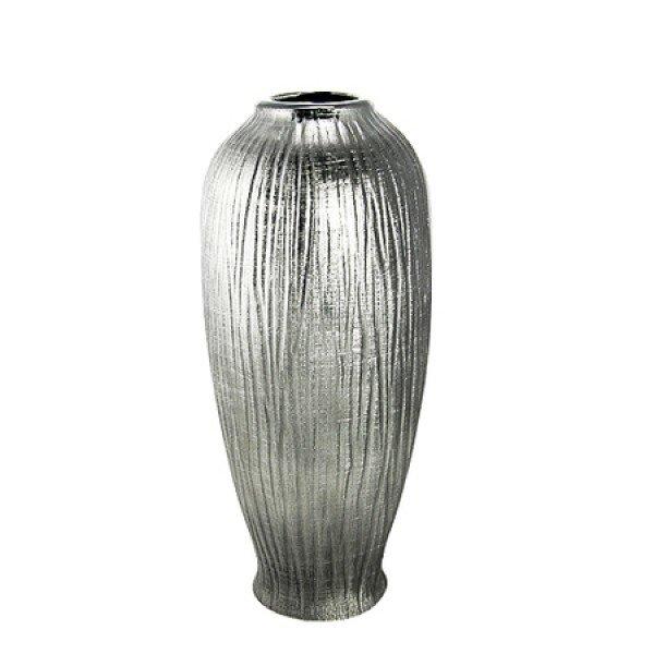 Silver Ceramic Vase B-702255