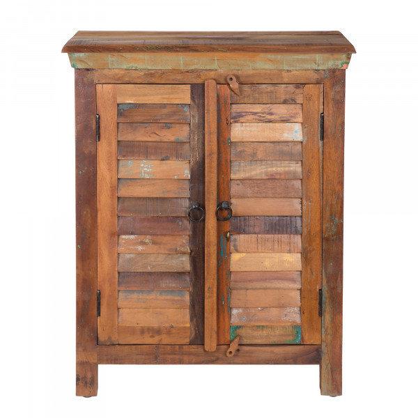 Solid Sheesham Wood 2 Door Accent Chest B-702076