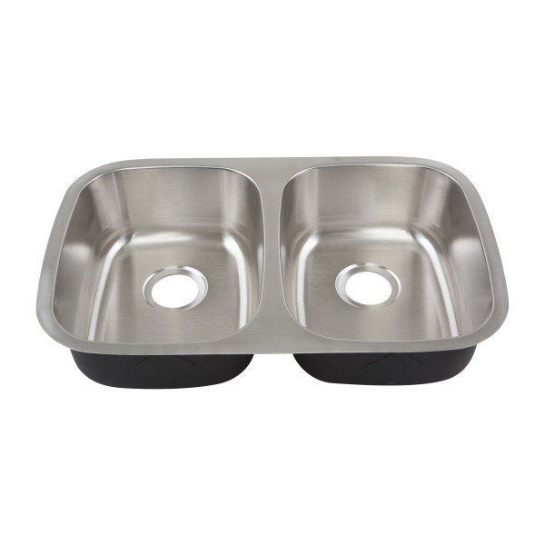 Stainless Steel Undermount Double Bowl Sink B-702529