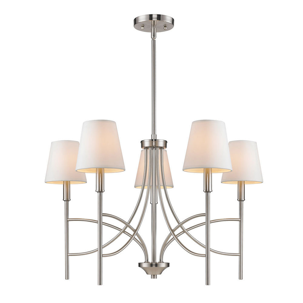 Taylor Pewter 5 Light Chandelier