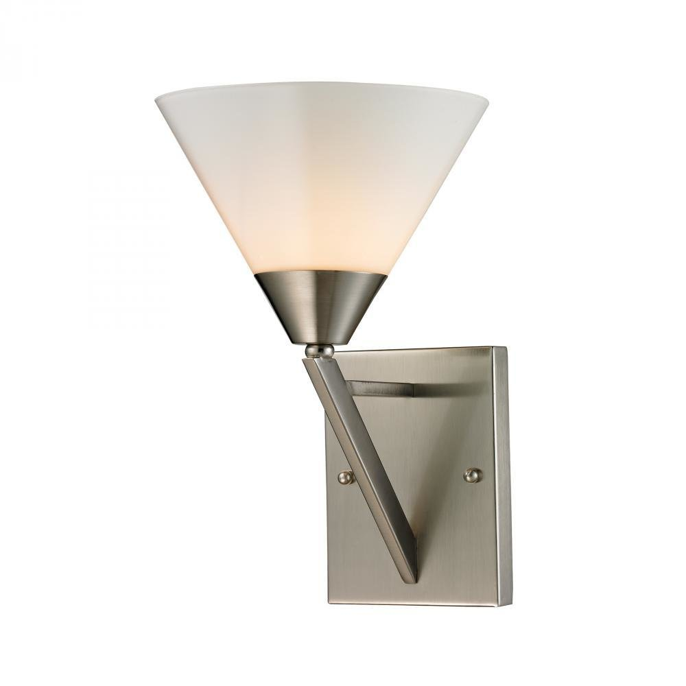 Tribecca Brushed Nickel 1 Light Sconce T-310535