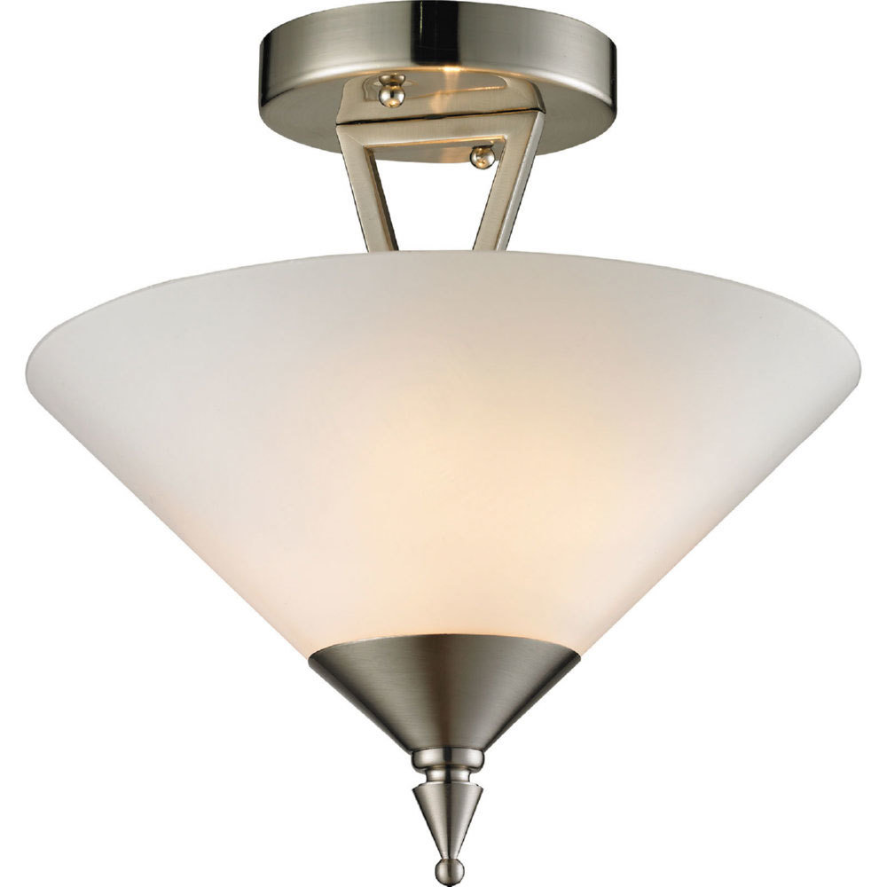 Tribecca Brushed Nickel 2 Light Semi Flush B-310533