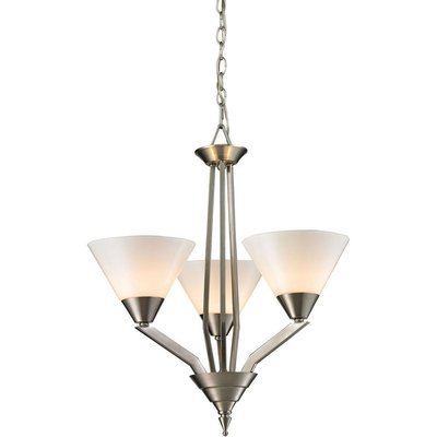 Tribecca Brushed Nickel 3 Light Chandelier