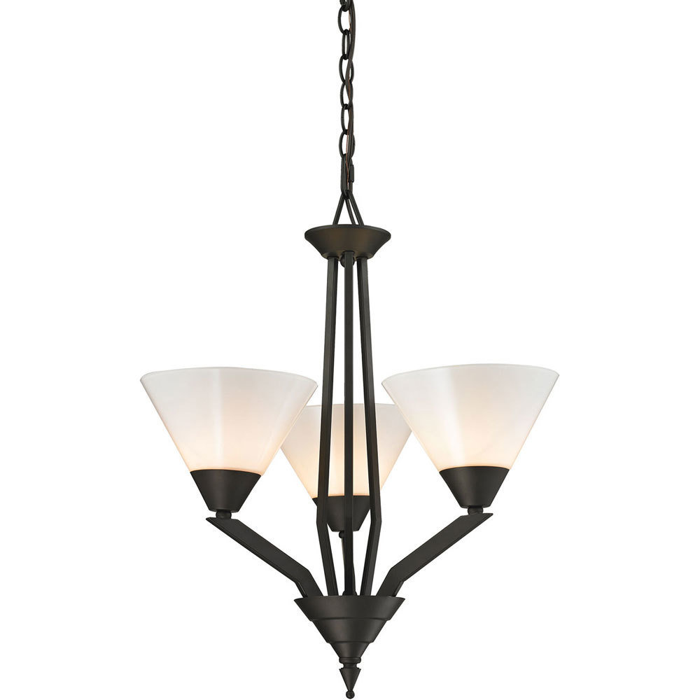 Tribecca Oil Rubbed Bronze 3 Light Chandelier B-310536