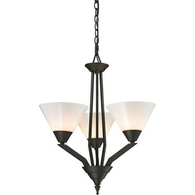 Tribecca Oil Rubbed Bronze 3 Light Chandelier