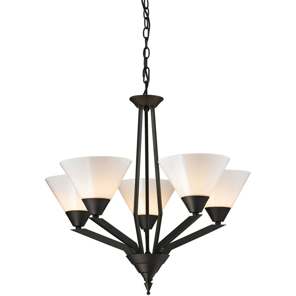 Tribecca Oil Rubbed Bronze 5 Light Chandelier B-310538