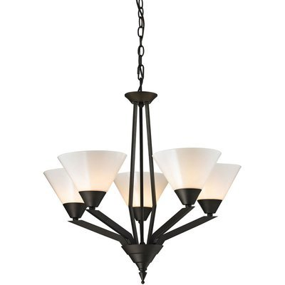 Tribecca Oil Rubbed Bronze 5 Light Chandelier