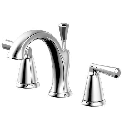 Z Collect Chrome Two Handle Widespread Lavatory Faucet