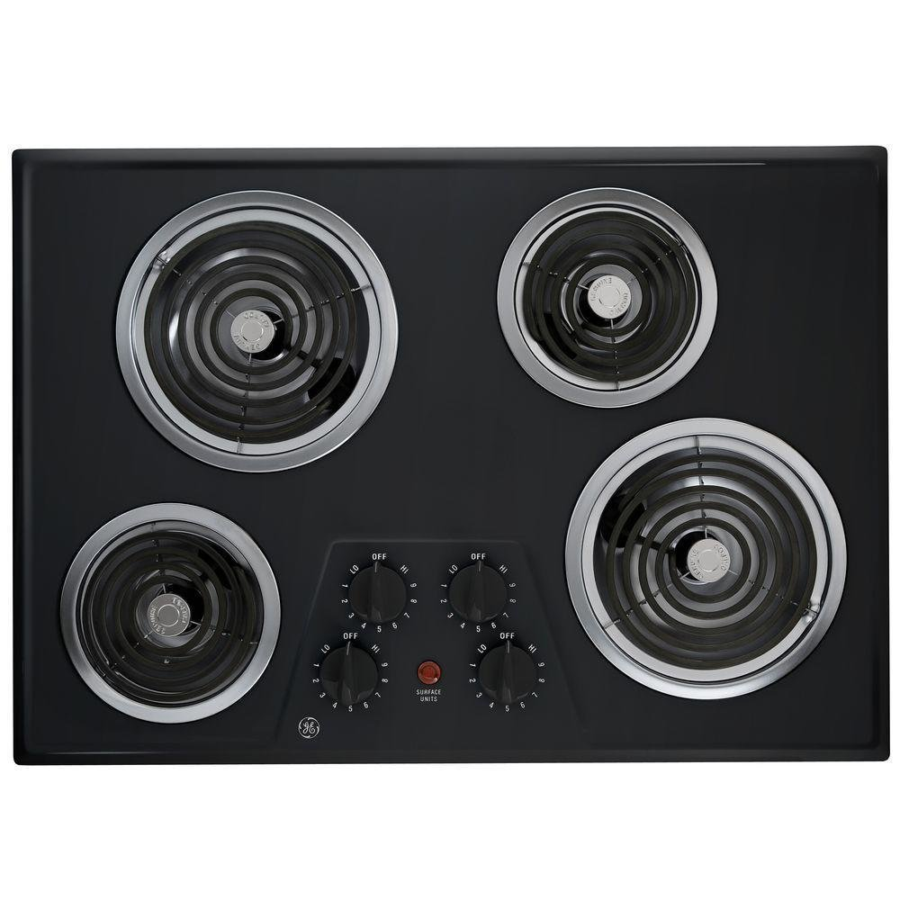 """30"""" Coil Electric Cooktop in Black with 4 Elements BMT0000075261"""