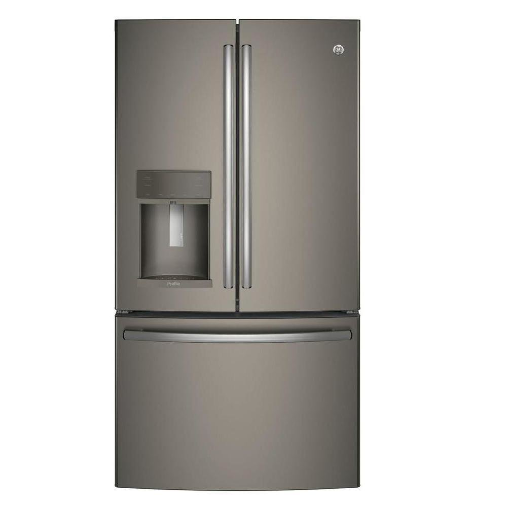 Profile 22.2 CF Slate Counter-Depth French Door Refrigerator TEM0000095689