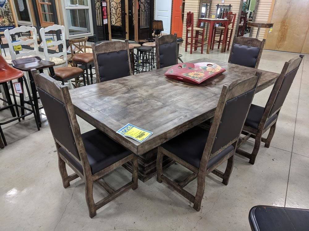 Terra Latte Double Pedestal Dining Set