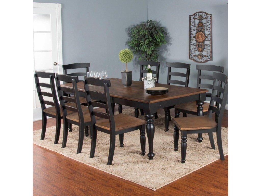 Bourbon County PB&J Finish Extendable Dining Set T-835029