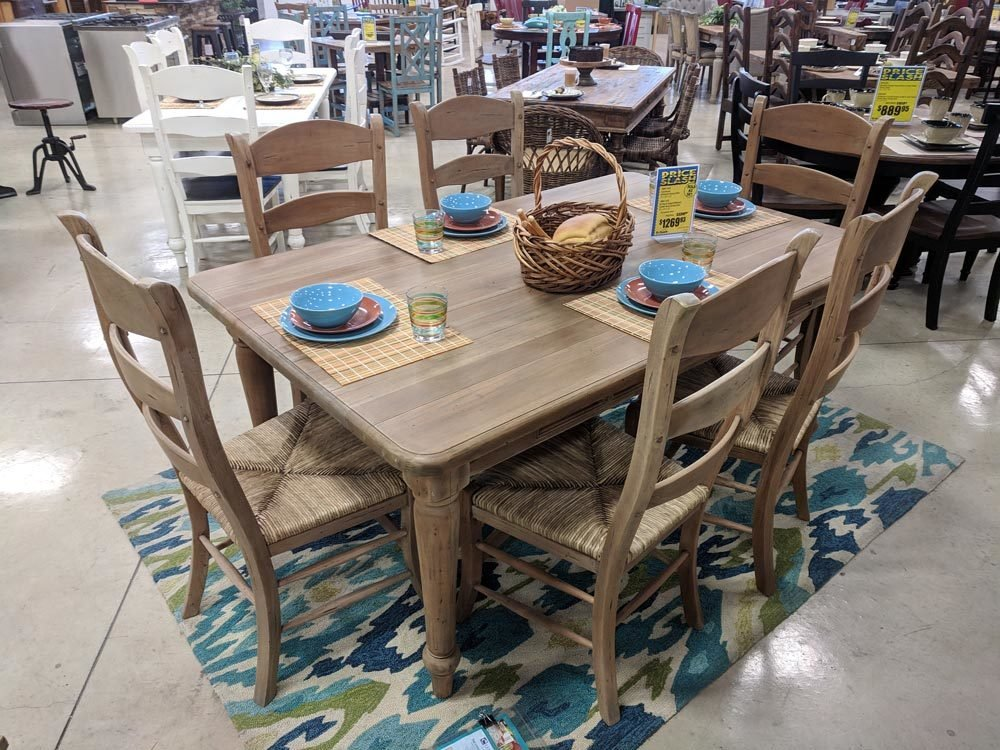Farmhouse Driftwood Dining Set T-600153