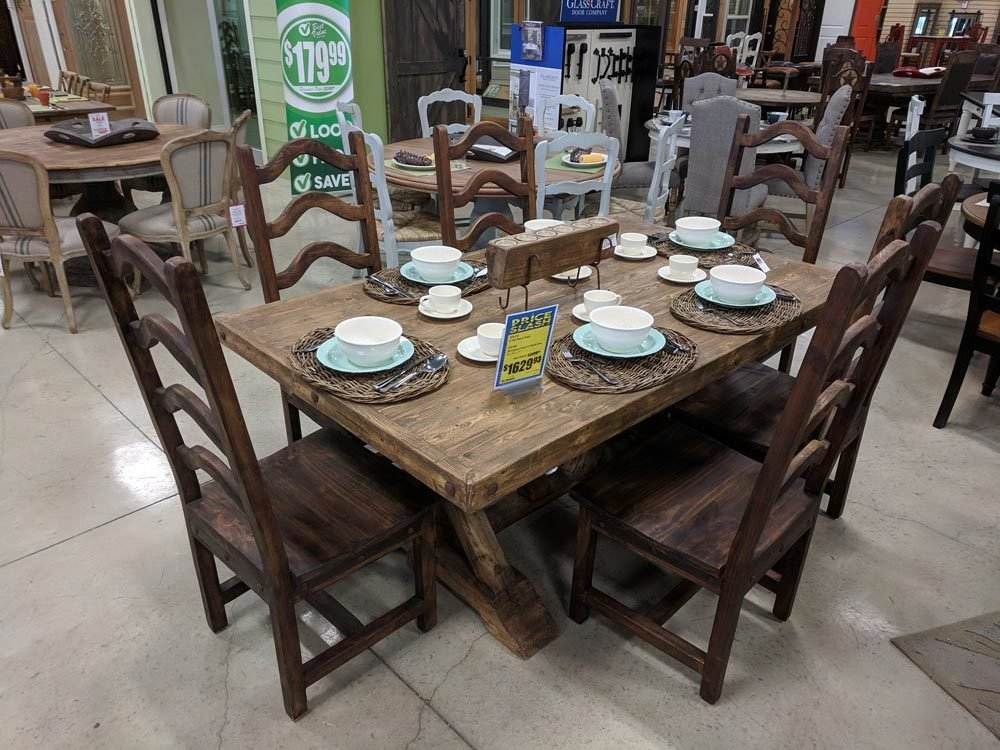 Old Wood Dining Set T-525232