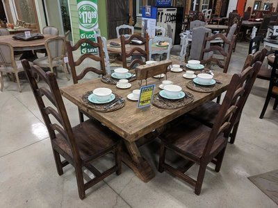 Old Wood Dining Set