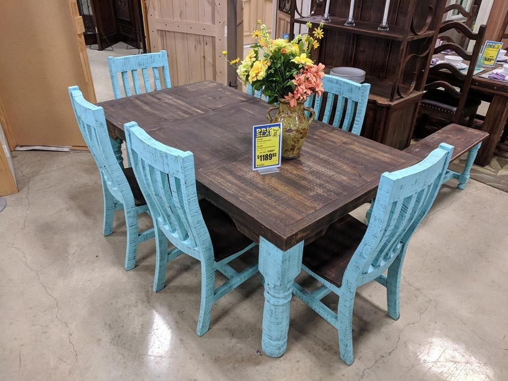 Turquoise Dining Set T-525088