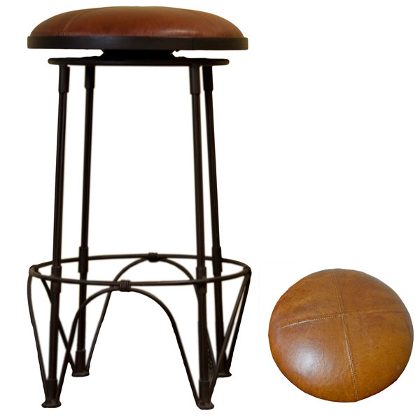 Banco Bar Claudia Chocolate Leather Barstool B-525267