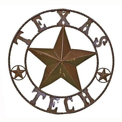 Rustic Round Texas Tech Sign