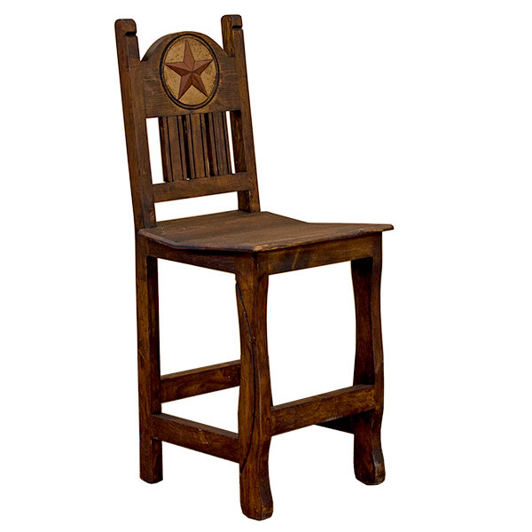 Medio Bar Stool with Wd St & Stn Star T-525230