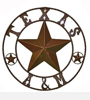 Rustic Round Texas A&M Sign T-525280