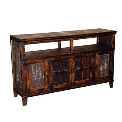 Medio TV Stand with Painted Reclaimed Wood Doors