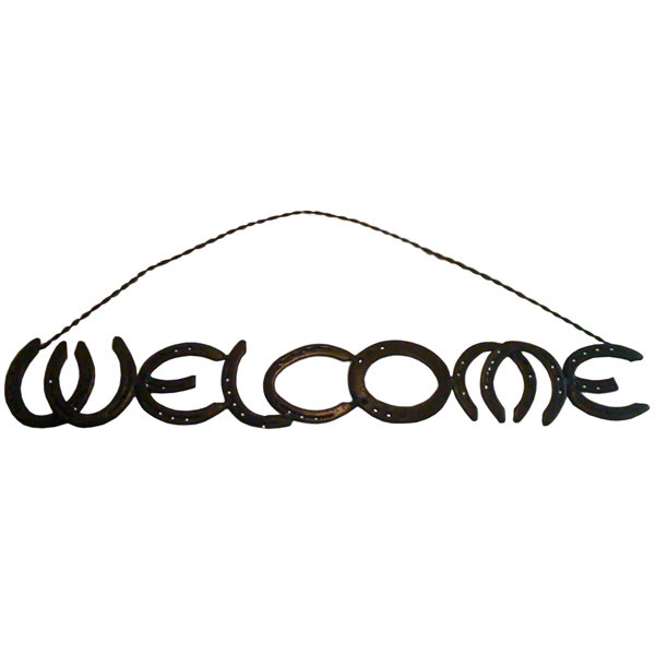 Rustic Horseshoe Welcome Sign T-525319