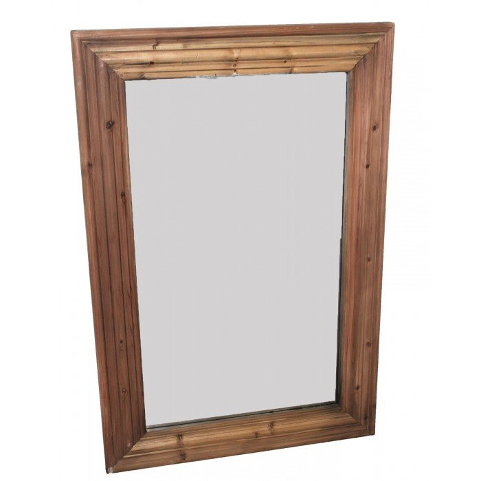 Natural Reclaimed Pine Curved Mirror T-792006