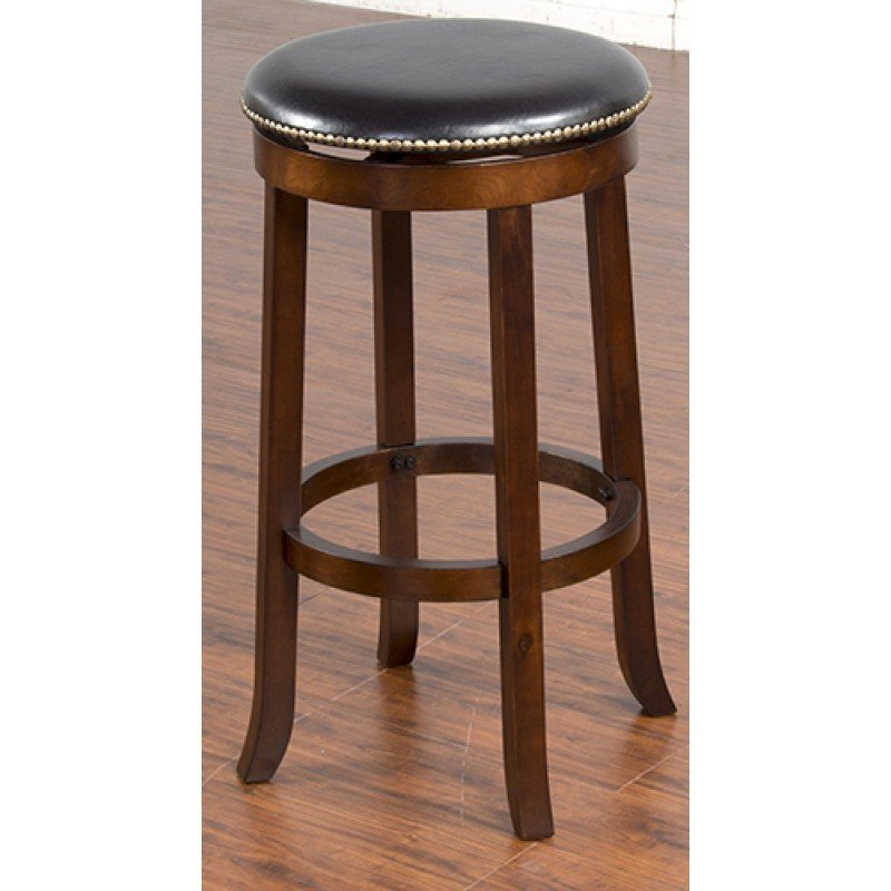 "Cappuccino Swivel Backless 30"" Barstool T-835044"