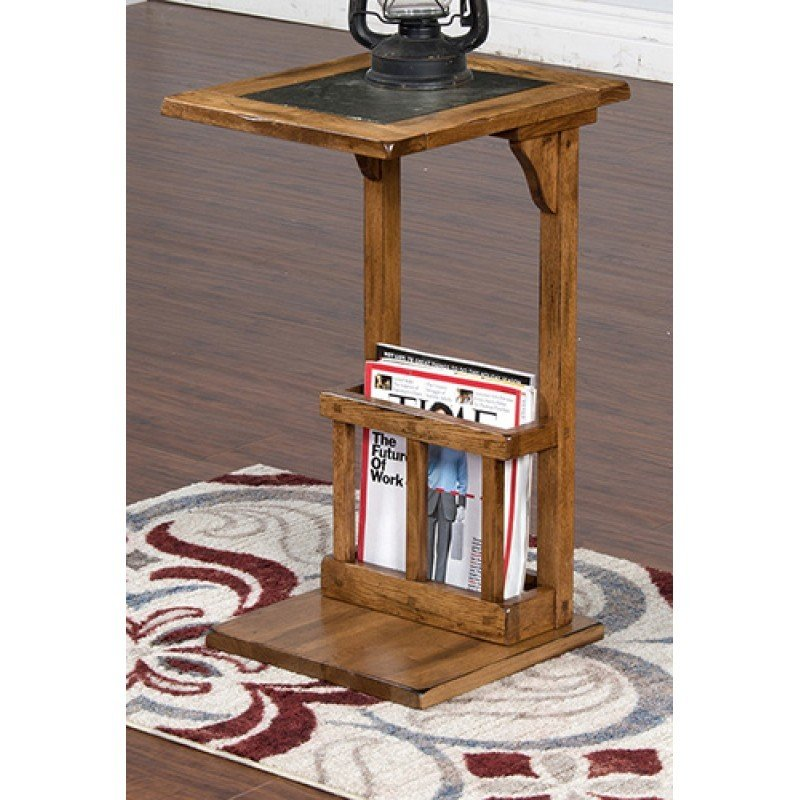 Sedona Rustic Oak Sofa Mate Table T-835052