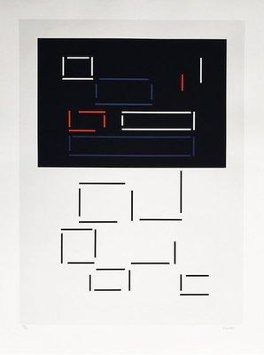 CLAISSE Geneviève - Composition Géométrique Avec Traits