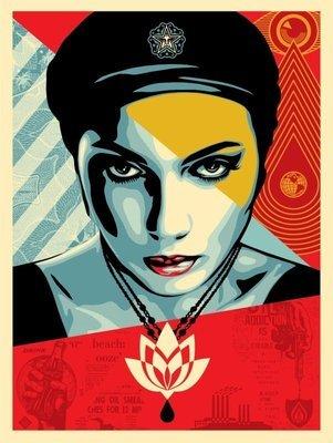 FAIREY Shepard -  Oil Lotus Woman