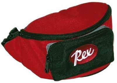 REX övtáska kicsi piros/fekete