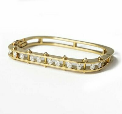 0867b2325 Vintage Secrett 18K Yellow Gold & Diamond Bangle