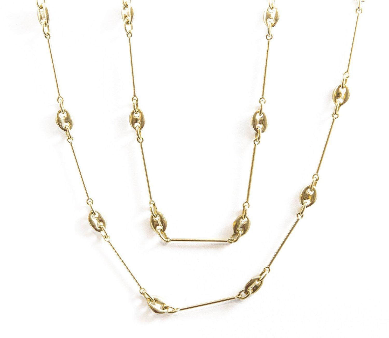 4a9029777 34 Inch 14K Yellow Gold Gucci Design Chain