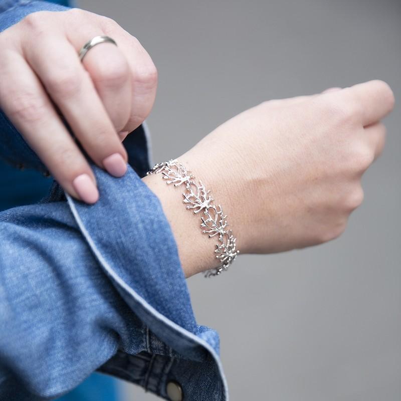 Bracciale Corallo Argento di 20 Celesti Bijoux