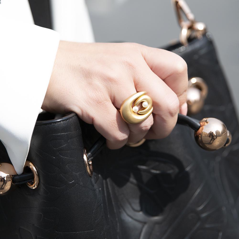 Anello Double Brancusi - Giulia Barela Jewelry 00101
